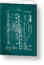 Flute Patent Drawing 2f Greeting Card