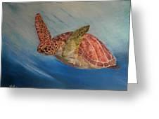 Flying Underwater Greeting Card