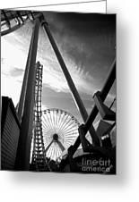 Focus On The Ferris Wheel Greeting Card
