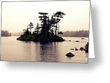 Fog Setting In On The Lake Greeting Card