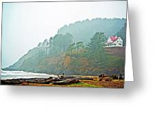 Foggy Pacific Greeting Card