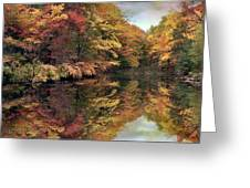 Foliage Reflections Greeting Card by Jessica Jenney