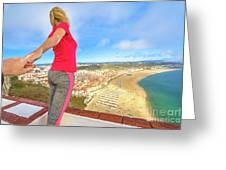 Follow Me In Portugal Greeting Card