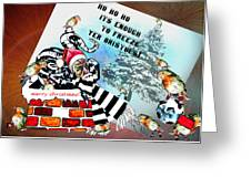 Football Derby Rams Against Bristol Robins Greeting Card