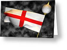 Football World Cup Cheer Series - England Greeting Card