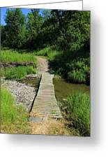 Footbridge Over A Creek Greeting Card
