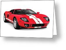Ford Gt Supercar Greeting Card