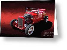 Ford Hot Rod Roadster Greeting Card