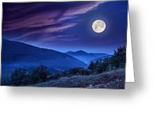 Forest On A Steep Mountain Slope Greeting Card
