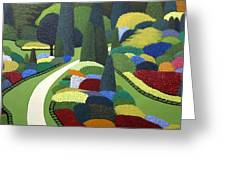 Formal Garden On Canvas Greeting Card