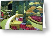 Formal Gardens Greeting Card