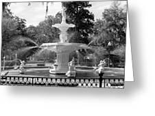Forsyth Fountain Park Greeting Card