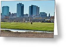Fort Worth Panorama Greeting Card