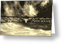 Fort Worth Stockyards District Archway Greeting Card
