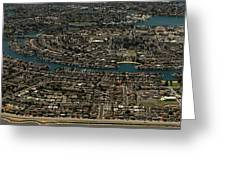 Foster City, California Aerial Photo Greeting Card