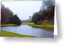 Fountains Abbey Lake Greeting Card