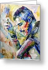Freddie Mercury Watercolor Greeting Card