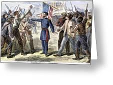 Freedmens Bureau, 1868 Greeting Card