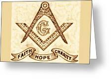 Freemason Symbolism By Pierre Blanchard Greeting Card