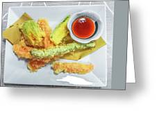 Fried Shrimps Tempura Greeting Card