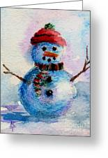 Frosty Aceo Greeting Card