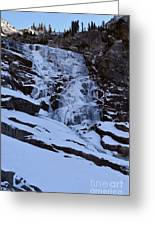 Frozen Tokopah Falls Greeting Card