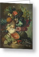 Fruit Flowers And A Fish Greeting Card