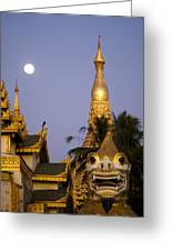 Full Moon In Burma Greeting Card