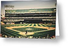 Game Day In Oakland Greeting Card
