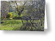 Garden In Spring Greeting Card