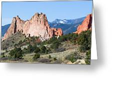 Garden Of The Gods Park In Colorado Springs In The Morning Greeting Card