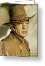 Gary Cooper, Vintage Actor Greeting Card