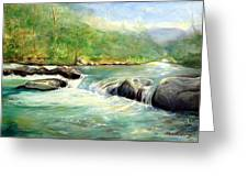 Gatlinburg River Greeting Card by Max Mckenzie