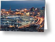 Genoa Blue Hour Greeting Card