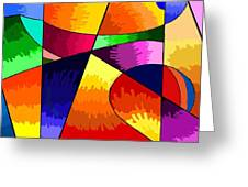 Geometry Abstract  Greeting Card