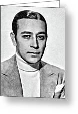 George Raft, Vintage Actor By Js Greeting Card