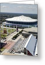 Georgia Dome In Atlanta Greeting Card