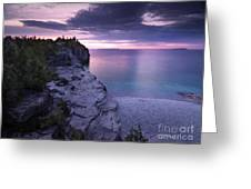 Georgian Bay Cliffs At Sunset Greeting Card