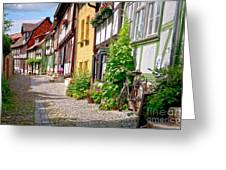 German Old Village Quedlinburg Greeting Card