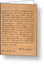 Gettysburg Address Greeting Card