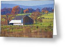 Gettysburg Barn Greeting Card by Bill Cannon