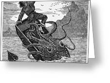 Giant Squid, 1879 Greeting Card