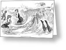 Gibson: Bather, 1902 Greeting Card