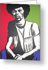 Gil Scott-heron Pieces Of A Man Greeting Card by Otis L Stanley