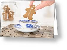 Gingerbread In Teacup Greeting Card