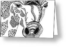 Giraffe Greeting Card by Barbara McConoughey