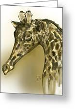 Giraffe Contemplation Greeting Card
