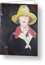 Girl In Riding Hat Greeting Card