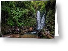 Git Git Waterfall - Bali Greeting Card