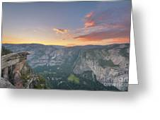 Glacier Point Sunset  Greeting Card